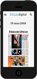 Smartphone com Jornal Digital